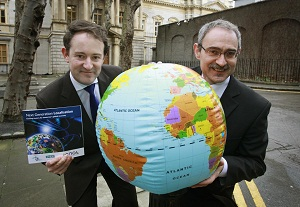 Mr Sean Sherlock, TD, Minister for Research and Innovation, pictured with Prof Josef van Genabith, Director of CNGL, at the launch of CNGL's Next Generation Localisation Careers Guide