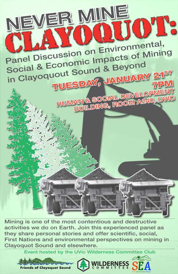 Never Mine Clayoquot Event Poster